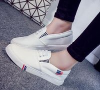 Wholesale Canvas shoes for women s shoes a pedal lazy han edition flat small white students cloth shoes and leisure shoes sneakers