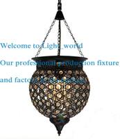 antique crystal ceiling lamps - LED Modern Black Crystal Chandelier Pendant Hanging Lamp Fixtures AC110 V Nordic Antique Crystal Ceiling Pendant Lmaps