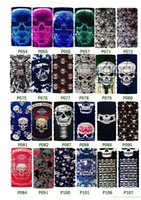 Wholesale Halloween Scary Mask Skull Masks Skeleton Outdoor Motorcycle Bicycle Multi Masks Scarf Half Face Mask Cap Neck Ghost