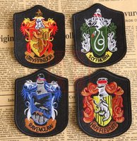 Wholesale Badges Harry Potter Patches Harry Potter Badges Embroidery Gryffindor Slytherin Ravenclaw Hufflepuff Embroidered Iron on Patches free shipp