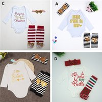 best baby bodysuit - Children Baby Clothing Set Christmas Newborn Baby Girl Boy Long Sleeve Clothing Best Gift Ever Bodysuit Pants Headband Baby Set