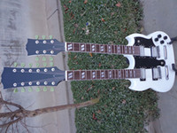 La mejor guitarra de China Custom Shop 1275 Cuello doble, Alpine White Electric Guitar OEM Musical