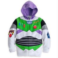 Wholesale Retail Children s Coat boys Bighorn cattle Buzz Lightyear hoodies jackets Kids cartoon Clothes baby outerwear for Spring Autumn