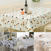 Wholesale 137x180cm Square PVC Plastic Table Cloth Waterproof Easy to Clean Print Table Cover Home Party Picnic Oilproof Table Cloth