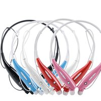 Wholesale HBS Stereo Bluetooth Headset HBS Wireless Headphone Neckband Style Earphones for iPhone HTC Samsung Bluetooth Cellphone