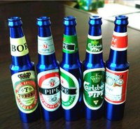 beer glass styles - High quality Creative Smoking Accessories Mini Smoke Pipe metal Pipe Smoking Pipe Small Popular Beer bottles pattern style mixed