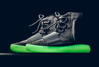 Wholesale New Arrival Kanye West Boost quot Light Grey quot Glow in the dark Men Shoes Boots Ankle Boots With Box DHL