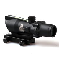 Wholesale ACOG X32 Style Real Red Green Fiber Source Duel Illuminated Rifle Scope