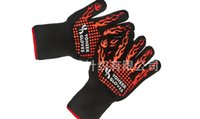 Wholesale BBQ Grilling Cooking Gloves F Extreme Heat Resistant gloves Oven Mitts Long for Extra Forearm Protection