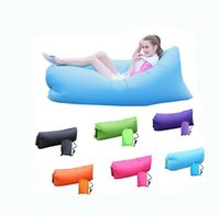 Wholesale New Upgraded Outdoor Fast Inflatable Sleeping Bags Portable Air Couch Comfortable Air Lounge Chair Sleeping Sofa Bed