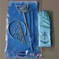 baby magic gloves - girls cinderella accessories crown magic wand necklace baby girls xmas sets rhinestones crown butterfly wand high heels necklace gloves