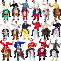 Wholesale 2016 New Mascot Unisex Novelty Carry Me Ride on Costume Animal Funny Fancy Dress Pants