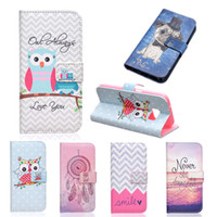 abs paint - Painted Flip Case Wallet Leather Cover for iphone S plus Samsung galaxy S6 S7 S7edge edge