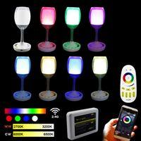 al por mayor wifi 2w-luz 2.4G WiFi Soporte Mi Serie 2W RGBW LED Copa de luz ganar la luz como un vaso de vino blanco WiFi selectiva a distancia compatible