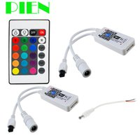 Wholesale Smartphone Control mini Wifi LED RGBW RGB Controller key IR Remote V for LED Strip Sync Timmer Music Mode