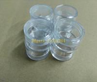 120pcs / lot Livraison gratuite 5g clair vider jar, 5ml plastique Box Packaging clou bouteille crème pot, Nail art glitter powder case