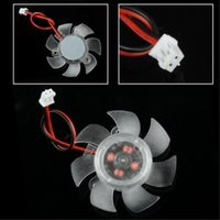 Wholesale Cooling fan mm V Pin Blades PC VGA Graphics Video Card Heatsink Cooler Cooling Fan EL3370