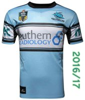 Wholesale Cronulla Sharks rugby jerseys home new NRL shirts size S XL top quality rugby shirts