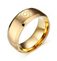 animations wedding bands - Men Women Rings Stainless Steel CARTOON ANIMATION ANIME Logo Cosplay Bands Mirror Glossy Gold Men s Wedding Ring