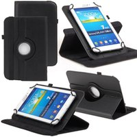 Folding Folio Case 7'' Universal Universal Cases for Tablet PC 360 Degree Rotating Litch PU Leather Stand Cover 7inch Fold Flip Covers Built-in Card Buckle for Mini iPad