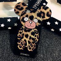 bear big ears - Leopard Gloomy Leapard Phone Case for iphone s plus Big Ears Cartoon Teddy Gloomy Bear protective Phone Case Cover for iphone plus splu