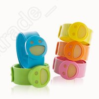Cheap LJJL335 BABYGO Smiling Face Baby Anti Mosquito Bug Pest Repellent Wrist Band Bracelet Insect Nets Bangle Outdoor 22*2cm