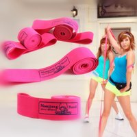 aerobic band exercises - High quality aerobic dance power bands yoga resistance band for pilates workout ballet slimming exercise gym latin