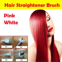 automatic temperature controls - Free Sample Fast Hair Straightener Brush Pro Automatic LCD magic hair Comb Digital Temperature Control Salon styling Tool Hair Straighteners