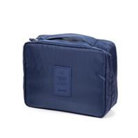 Wholesale 1pcs Travel Storage Cosmetic Polka Dot Bag Divider Container Organiser Multifunction Bag Portable Wash Gargle Bag China post