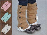 baby down boot - Newest Baby Socks Winter Cute Button Down Boot Cuffs Baby Girls Lace Flat Warm Wool Knit Handmade Leg Warmers Boot Socks Knee