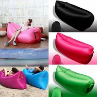 Cheap 2016 New Lamzac Hangout Fast Inflatable Air Sleep Camping Bed KAISR Beach Sofa Lounger Sleeping Bag Lazy Chair 9 Colors