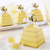 beehive boxes - 600PCS Cute Baby birthday gift box of quot Sweet as Can Bee quot Beehive Baby Favor Box For Wedding and Party Decoration Candy box