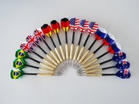Wholesale 2016 NEW Addmotor Sets of Steel Tip Darts g with Kinds of National Flag Flight SP007