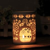 Wholesale ceremic light Aromatherapy Lamp Ceramic Tea Light Holder Mini Oil Warmer Aromatherapy Essential Oil Burner Great Decoration for Living Room