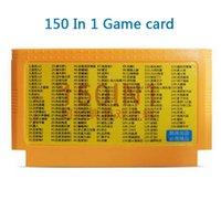 Wholesale 150 in Game Cartridge FC Classic Pins bit Game Card For tv video game player