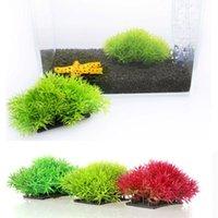 Wholesale Artificial Grass Aquarium Decor Water Weeds Ornament Plant Fish Tank Decorations Ornaments