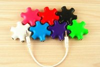 Wholesale dhl Ways Audio Splitter fanshionable in headphone splitter earphone splitter for music sharing