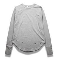 arc holds - NEW extend hip hop street fashion t shirts men summer long sleeve oversize design hold hand Long Sleeve Arc Bottom