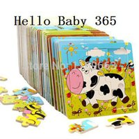 Wholesale Wood Puzzle Pieces Child Jigsaw Puzzle Funny Educational Toys