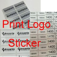barcode paper - LOGO Printing Barcode EAN UPC Code Lables Serial Number Lable Customize Adhensive Stickers for Amazon FBA Lable Stickers Paper