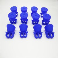 Wholesale 2016 Colorful Wearable Nail Polish Holder Silicone Art Tips Nail Polish Bottle Holder Stand Tools