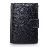 Wholesale 2016 New Vintage Hasp Trifold Mens Genuine Leather Wallet with Large Capacity