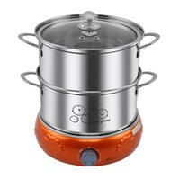 Wholesale multifunction double steaming device for large capacity steel electric steamer anti dry burning