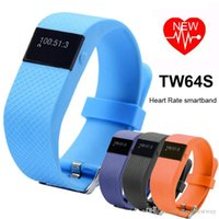 Wholesale updated TW64S fitbit Fitness Tracker Band with Heart Rate monitor Smart Bracelet Pulsera Smartband Sport Wristband fit iOS Android
