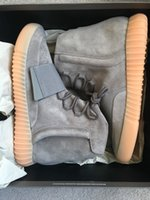 Wholesale 2016 New Fashion Design Hot Boost Shoes Sneakers Light Grey Gum Glow in Dark Free Drop Shipping Boots Size US5 US12