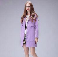 Wholesale New Arrivals Women s Autumn Winter long Coat Design Fashion Trench Coat M L XL