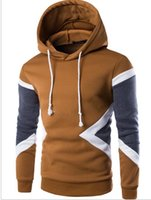 Wholesale The new trend of urban young men s Fashion Mens Hooded Sweater stitching sleeve head