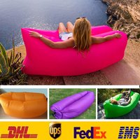 Wholesale New Portable Outdoor Lazy Pads Inflatable Mattress Air Pads Sleeping Bags Beach Camping Backpacking Travel Bed Lazy Chair ZJ B12