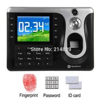 Wholesale Realand A C101 quot TFT Fingerprint PIN Card Time Attendance Clock USB TCP IP