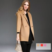 best cashmere brands - 2016 Best Sales Women Woolen Coats Two Sides Tailored Collar Lady Overcoat Brand New Designer European Style Fast Shipping Hot YM16506